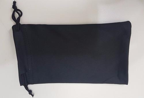 kit 24 saquinhos saco case microfibra preto óculos sol grau