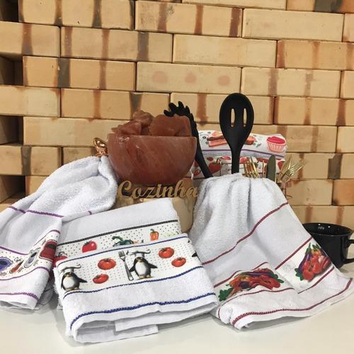 kit 24 toalhas cozinha pano de copa pano de prato atoalhado