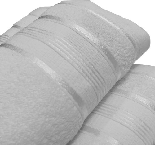 kit 24 toalhas santista rosto royal hotel/salão cor: branca