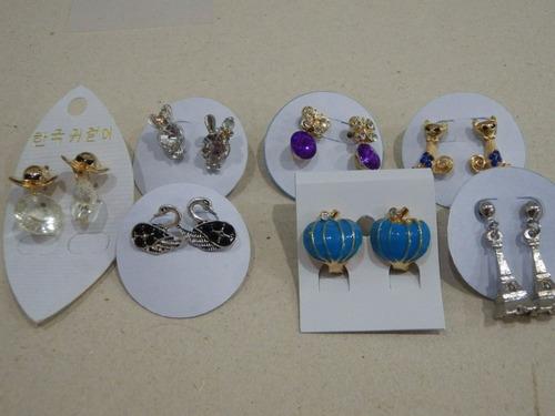 kit 25 brincos tamanhos variados bijuteria atacado revenda