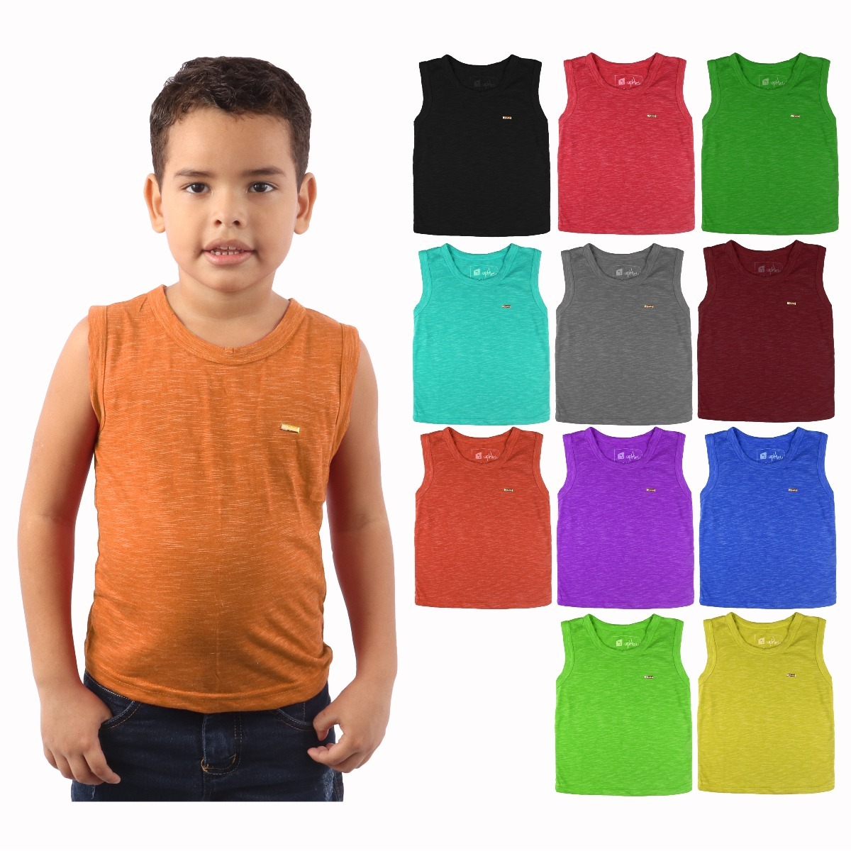 b966d48287 kit 25 camiseta regata modelo kids praia menino algodão luxo. Carregando  zoom.