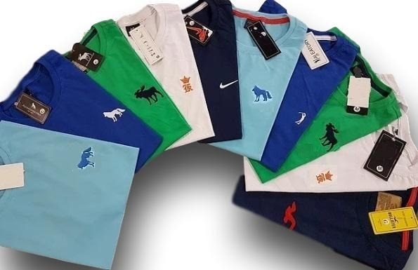 da2ba4e11f Kit 25 Camisetas Bordadas Masculina Camisa Blusa No Atacado - R  469 ...