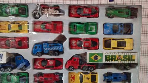 kit 25 carrinhos ferro com plastico ,caminhão,moto coleção