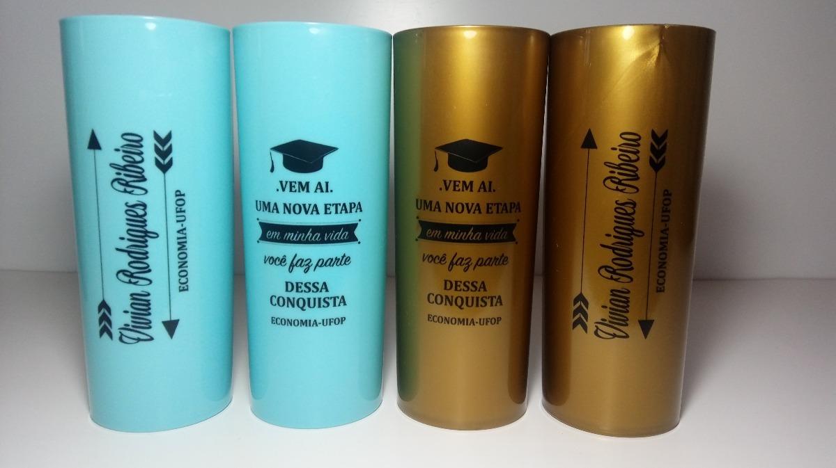 Adesivo Para Copo De Formatura ~ Kit 25 Copos Long Drink Acrílico Personalizados Formatura