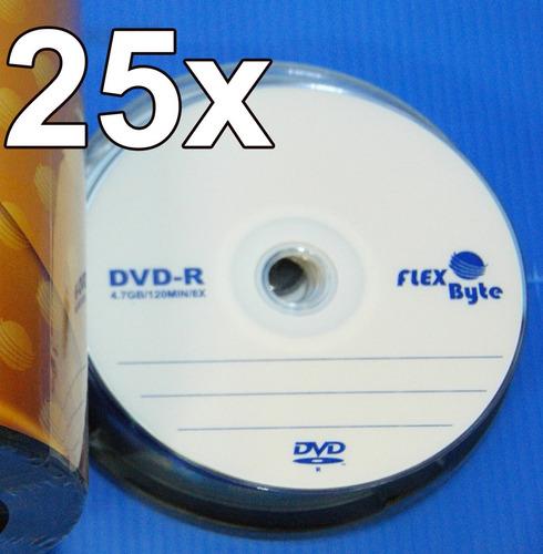 kit 25 dvd virgem flexbyte 4.7gb