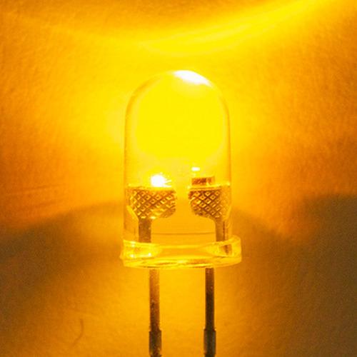 kit 25 leds amarillo 3mm ultrabrillante