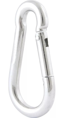 kit 25 mosquetão 8x80mm aço galvanizado com trava beltools