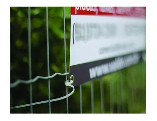 kit 25 placas imobiliária aluga vende reutilizável 50x49cm