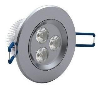 kit 25 spot led luz quente direcionável 3w teto sanca gesso