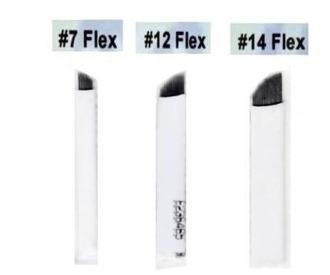 kit 25 x lamina tebori micro aguha 11, 14, 12 hard e flex