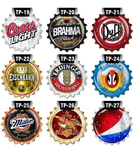 kit 27 placas decorativas mdf tampa garrafa tampinha