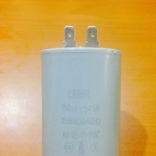 kit 2pz capacitor 150mfd terminal condensador 150uf luz 250v