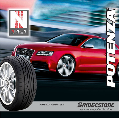 kit 2u 205/55 r16 w bridgestone potenza re760 + envio gratis