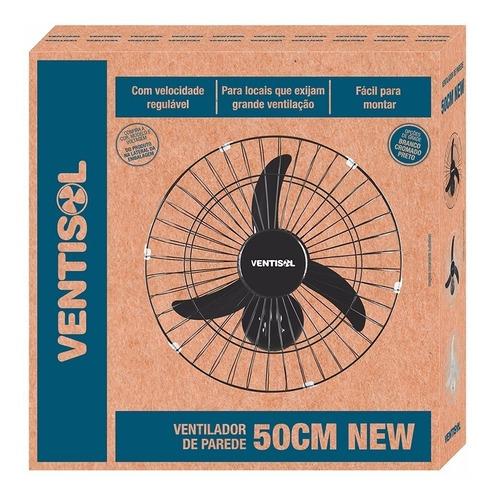 kit 2un ventilador oscilante de parede 50cm grade preto