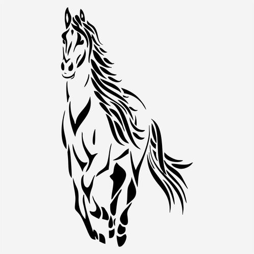 kit 2x adesivo cavalo hipismo animais esportes 35cm a660