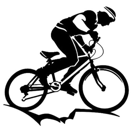 kit 2x adesivo ciclismo bike bicicleta esportes 15cm a649