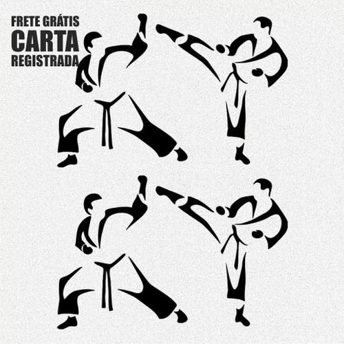 kit 2x adesivo karatê judô artes marciais esportes 30cm a461