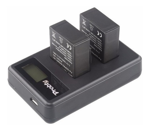 kit 2x baterias + carregador gopro hero 3 e 3+ go pro ahdbt