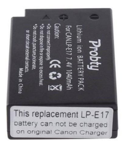 kit 2x baterias lpe17 carregador canon t6i sl2 m5 77d t7i rp