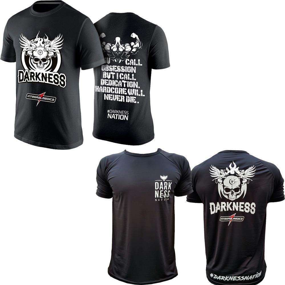 46c49f2234 kit 2x camiseta dry fit integralmedica darkness preta. Carregando zoom.