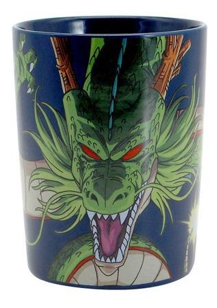 kit 2x caneca shenlong dragon ball z alça quadrada cerâmica