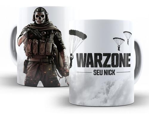 kit 2x canecas cod warzone com nome personalizado