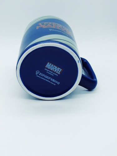 kit 2x canecas porcelana capitã marvel zona criativa 500 ml