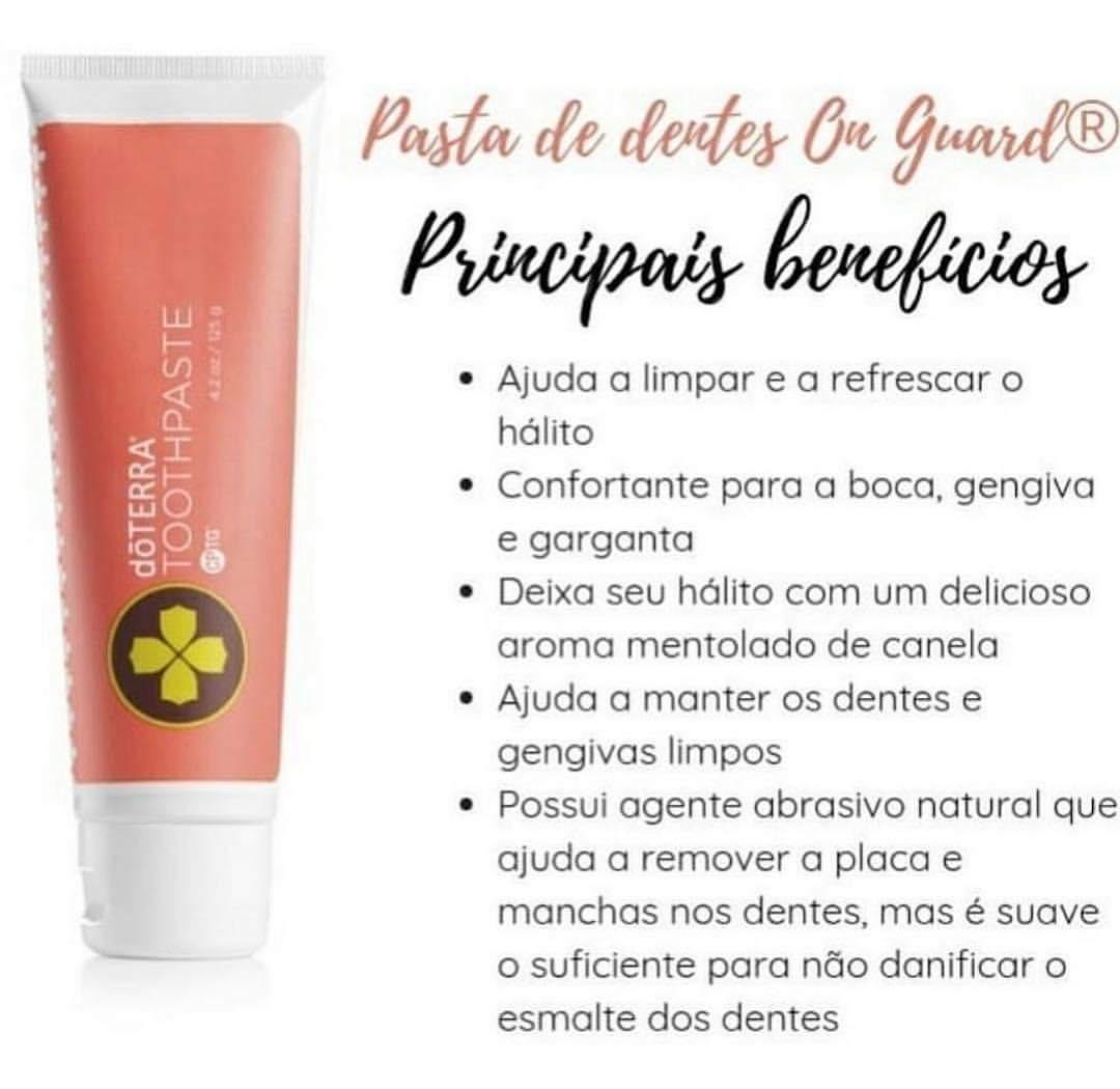 Kit 2x Creme Dental Clareador Natural Doterra Frete Gratis R