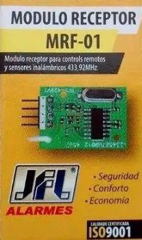 kit 2x modulo receptor mrf-01 jfl central de alarme monitora