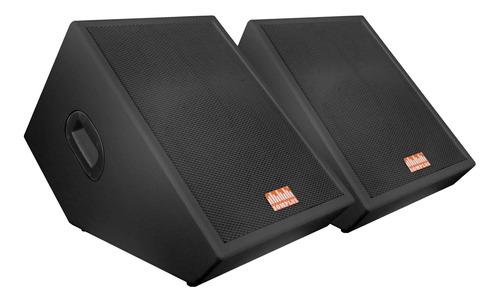 kit 2x monitores passivos somplus 12 pol 150w spmon122vias