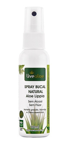 kit 2x spray bucal natural aloe lippia sem fluor