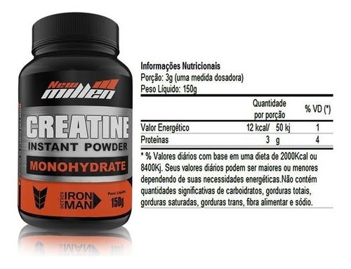 kit 2x whey protein + bcaa + creatina  new millen
