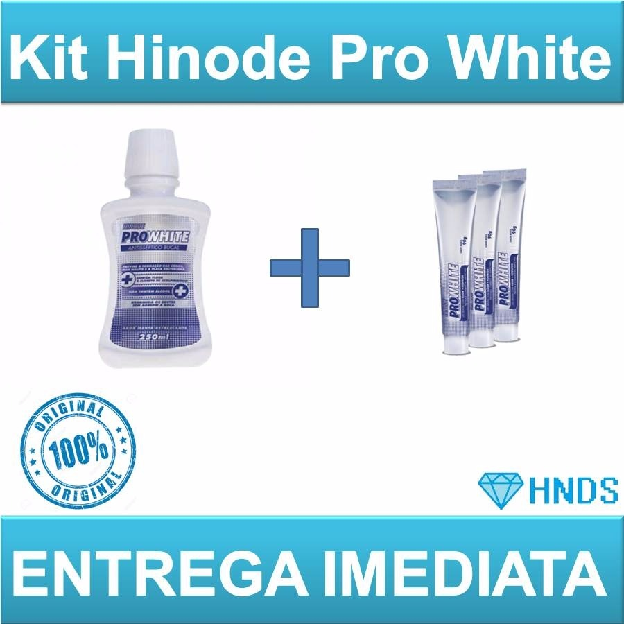 Kit 3 1 Gel Dental Clareador Enxaguante Bucal Hinode R 51 19