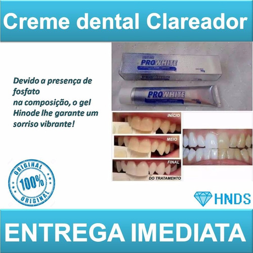 kit (3+1) gel dental clareador + enxaguante bucal hinode