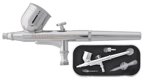 kit 3 aerografos profesional compresor master