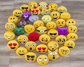 f07beaa72ad06f Kit 3 Almofada Pelucia 32cm Emoji Emoticon Zapzap Watts
