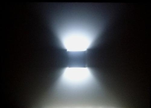 kit 3 arandela box dois feixes luz indireta parede