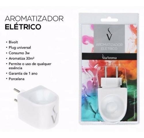 kit 3 aromatizador eletrico porcelana via aroma