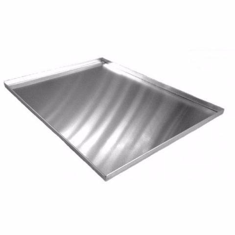 kit 3 assadeira para rocambole em alumínio grande 2 cm