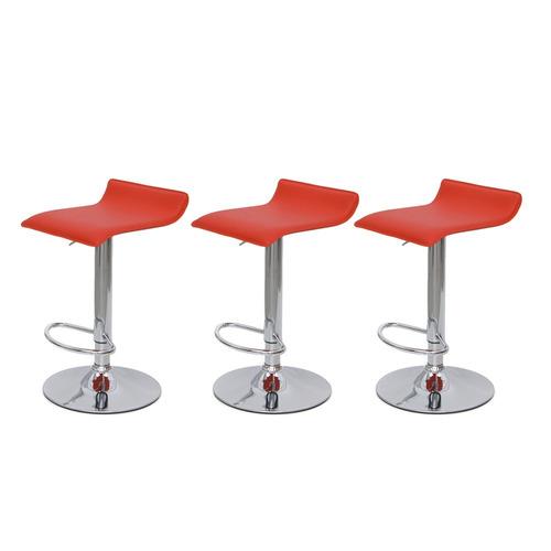 kit 3 banquetas cozinha bar belo horizonte vermelha