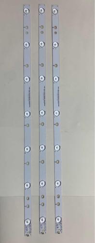 kit 3 barra led novo 32phg4900 le32d1352 le32h1461 le32s5760