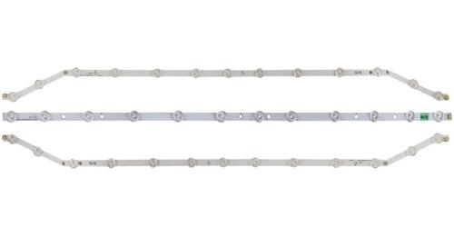 kit 3 barras curvas led samsung un40fh6203 un40fh5303