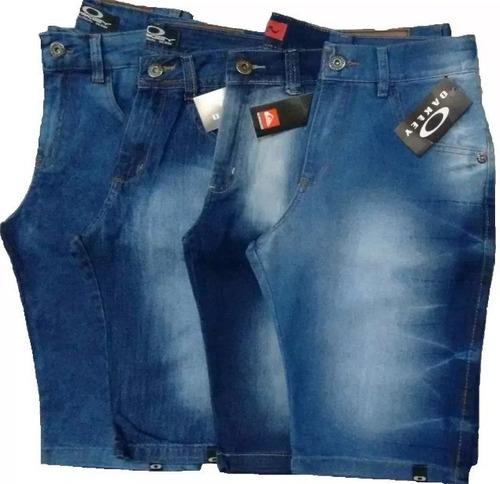 kit 3 bermuda jeans masculina frete grátis e 12x sem juros