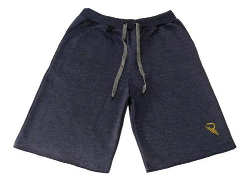 kit 3 bermuda shorts moletom liso academia atacado rt13