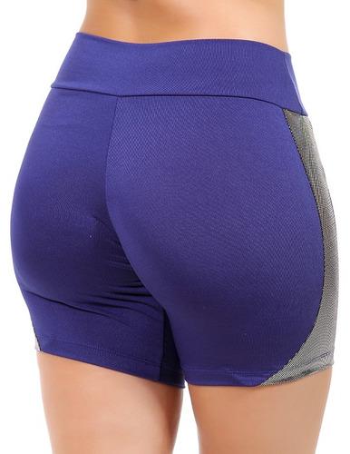 kit 3 bermudas fitness short roupas femininas brilho 9857