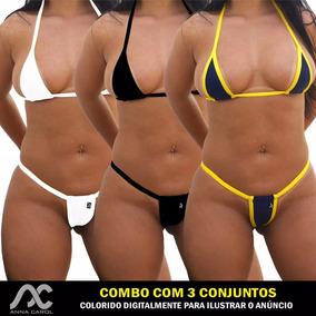8265ae797fd4 Mini Micro Biquini Fio Dental Biquinis Mulher Sao Paulo Tamanho G ...