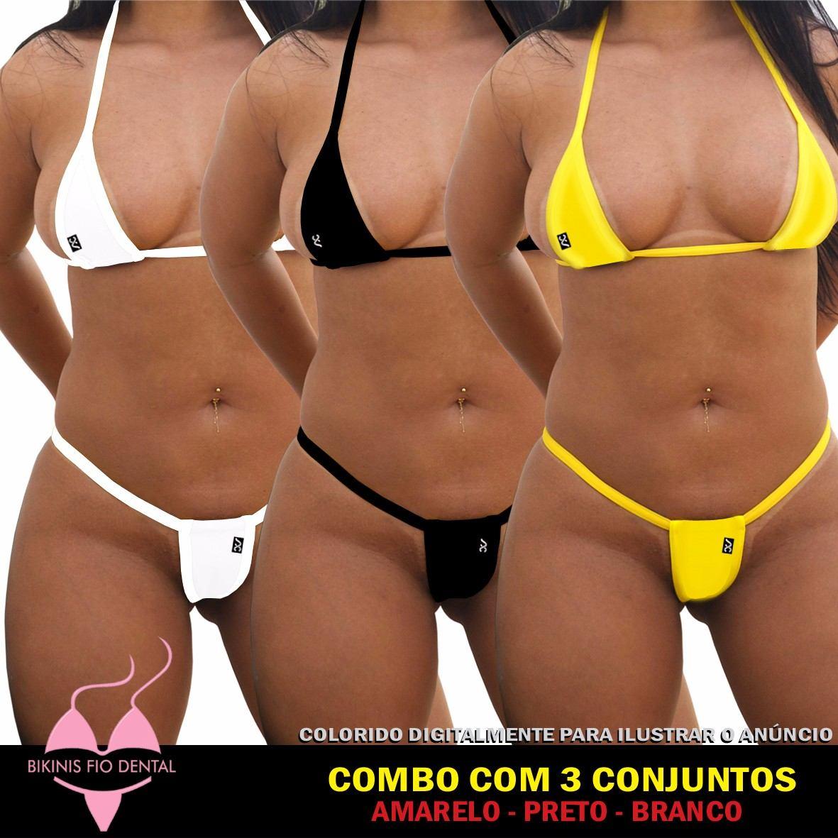 42567037c kit 3 biquinis combo annacarol bikinisfiodental sexy micro-3. Carregando  zoom.