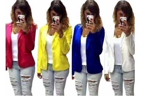 kit 3 blazer casaquinho terninhos roupa social feminino