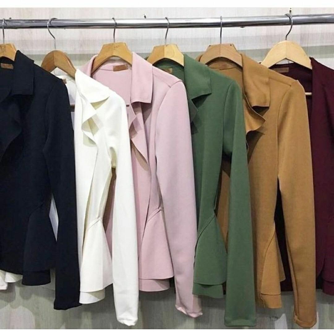 b670ba57ac kit 3 blazer neoprene feminino casaquinho frete grátis. Carregando zoom.