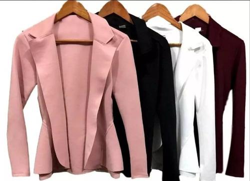 kit 3 blazer neoprene  feminino  promoção
